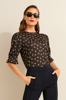 Capture Gather Sleeve Top - 247608