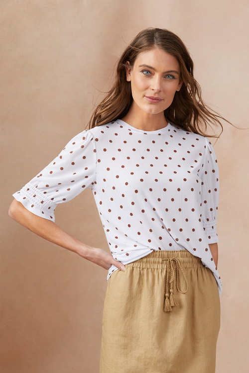 Capture Gather Sleeve Top
