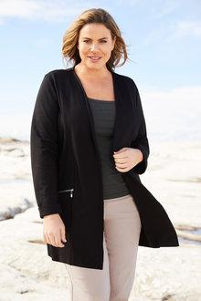 Plus Size - Sara Ponti Zip Jacket