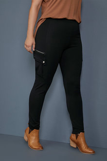 Sara Zip Detail Ponte Pants - 247683