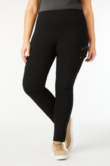 Sara Zip Detail Ponte Pants - 247683