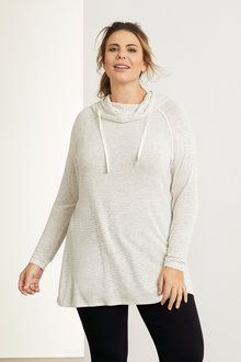 Plus Size - Sara Funnel Neck Top - 247687