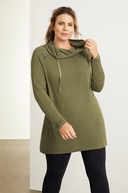 Plus Size - Sara Funnel Neck Top