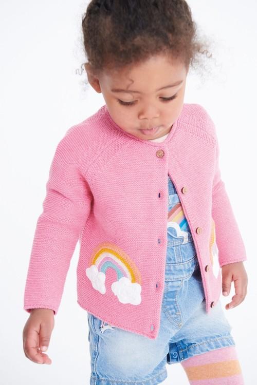 Next Pink Rainbow Cardigan (3mths-7yrs)