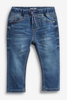 Next Mid Blue Denim Jogger Jeans - 247724