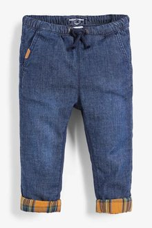 Next Dark Blue Pull-On Lined Jeans (3mths-7yrs) - 247728