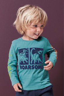 Next Long Sleeve Roarsome Dino T-Shirt (3mths-7yrs) - 247742