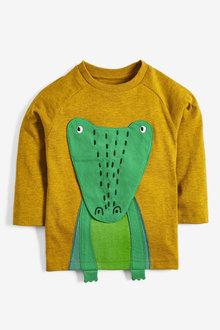 Next Yellow Long Sleeve Interactive Crocodile T-Shirt - 247746