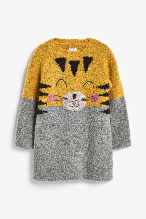 Next Tiger Face Jumper Dress (3mths-7yrs)
