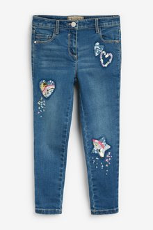 Next Sequin Detail Jeans (3-16yrs)