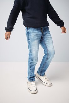 Next Jersey Denim Rib Waist Jeans (3-16yrs) - 247780