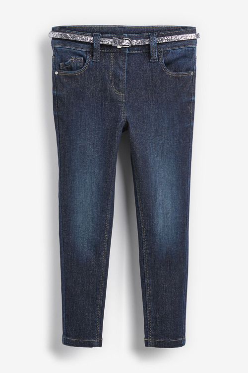 Next Sparkle Skinny Jeans With Belt (3-16yrs)