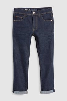 Next Dark Wash Regular Fit Five Pocket Jeans - 247796