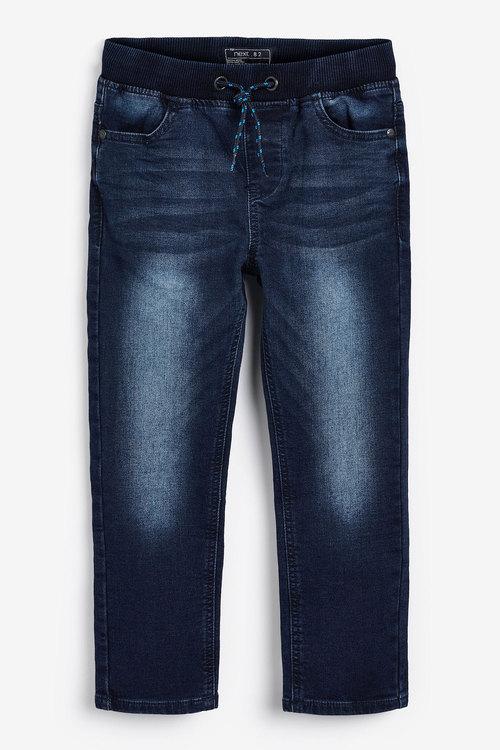 Next Dark Blue Regular Fit Jersey Denim Pull-On Jeans (5-16yrs)