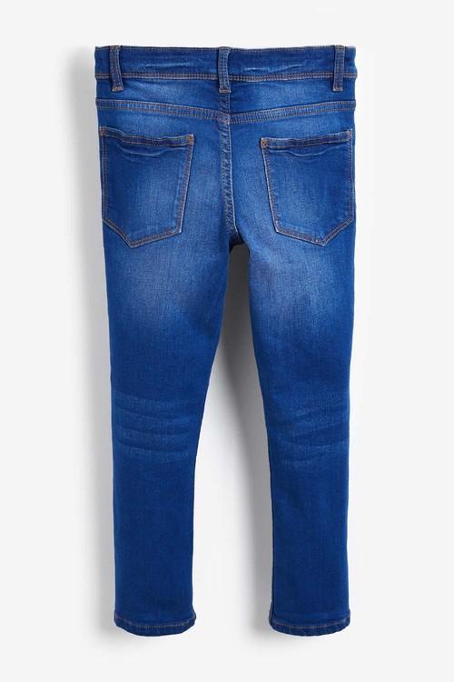 Next Bright Blue Five Pocket Skinny Jeans (5-16yrs)