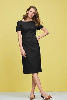 Next Black Square Neck Dress - 247848