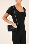 Next Black Microsuede Clutch Bag