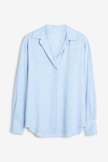 Next Blue Long Sleeve Shirt - 247860