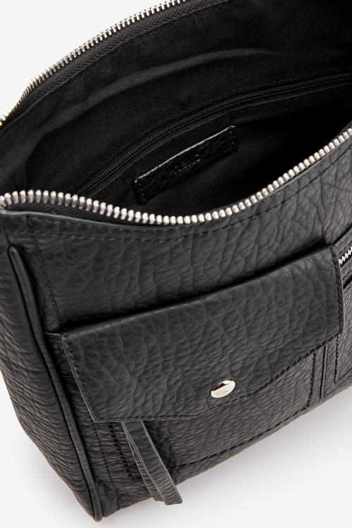 Next Black Pocket Messenger Across-Body Bag