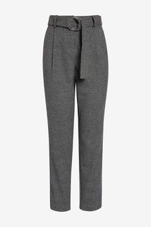 Next Grey Check Belted Trousers - 247871