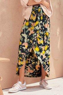 Next Camo Print Wrap Maxi Skirt - 247905