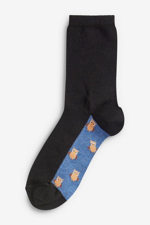 Next Woodland Animal Footbed Ankle Socks Five Pack