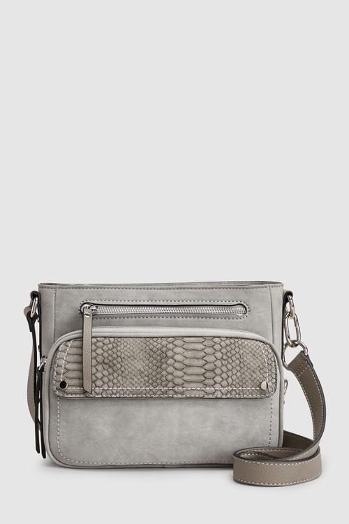 Next Grey Utility Detail Across Body Bag