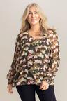 Plus Size - Sara Chiffon Long Sleeve Top