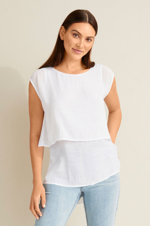 Capture Layered Sleeveless Top