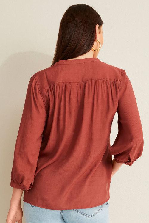 Capture Textured Gather Detail Shirt