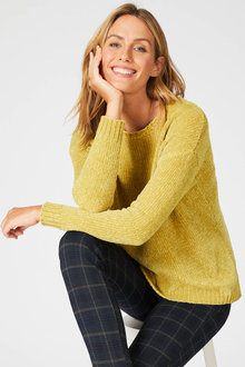 Capture Chenille Drop Shoulder Sweater - 248075
