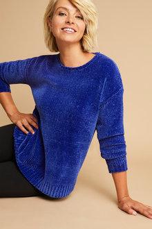 Capture Chenille Drop Shoulder Sweater - 248075