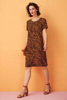 Capture Pleat Front Dress - 248077
