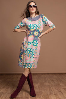 Capture Border Print Dress - 248081