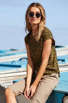 Capture Printed Shell Top - 248083