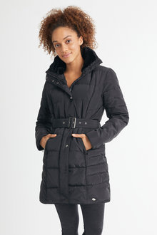 Isobar Longline Belted Puffer Jacket - 248095