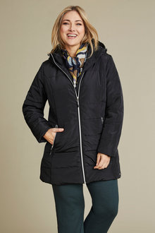 Plus Size - Isobar Plus Longline Puffer Jacket