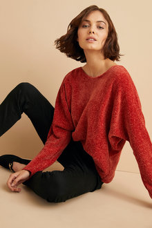 Emerge Chenille Batwing Sweater - 248103