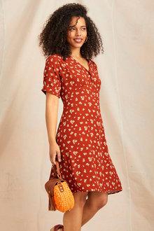 Emerge Short Sleeve Shirt Dress - 248114