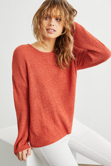 Emerge Textured Drop Shoulder Top - 248115