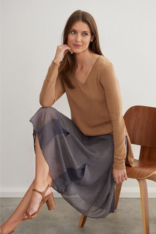 Grace Hill Pleat Detail Skirt