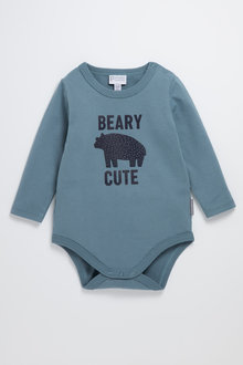Pumpkin Patch Organic Beary Cute Bodysuit