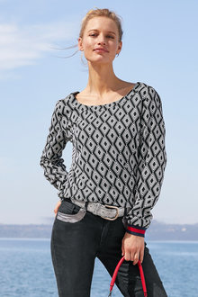 Heine Diamond Print Top