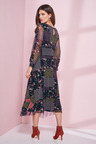 European Collection Patchwork Print Mesh Dress