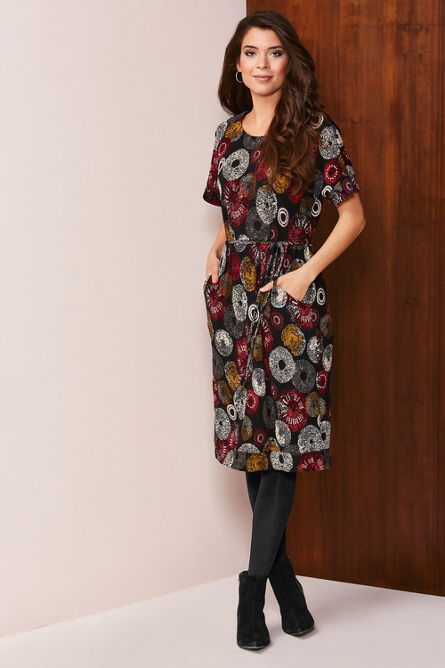 Kaleidoscope Printed Knit Dress