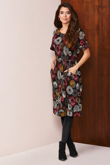 Kaleidoscope Printed Knit Dress - 248279
