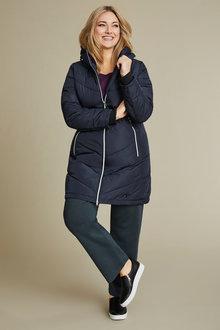 Plus Size - Isobar Plus Longline Puffer Jacket - 248282