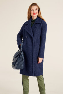 Capture Double Breasted Boucle Coat - 248291