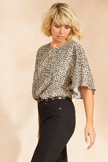 Emerge Flutter Sleeve Top - 248317