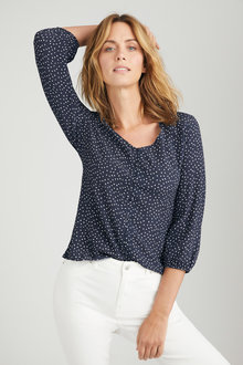 Emerge Button Front Blouse